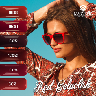 Фото Гель-лак Albina Red Magnetic 15 ml